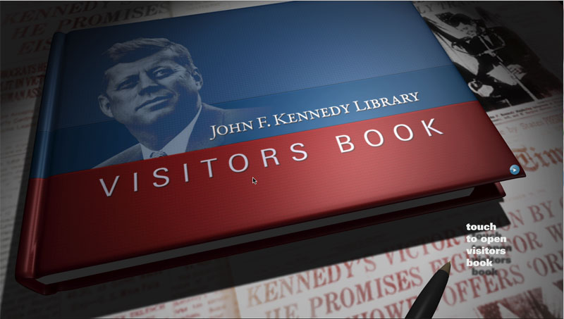 JFK Visitors Book